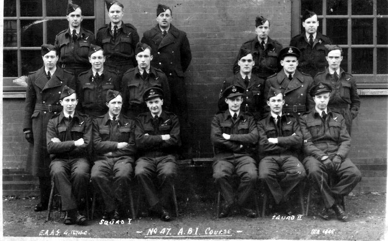 No 47 ABI Course, taken February 1945, Dad is in  Squad II, left, middle row
