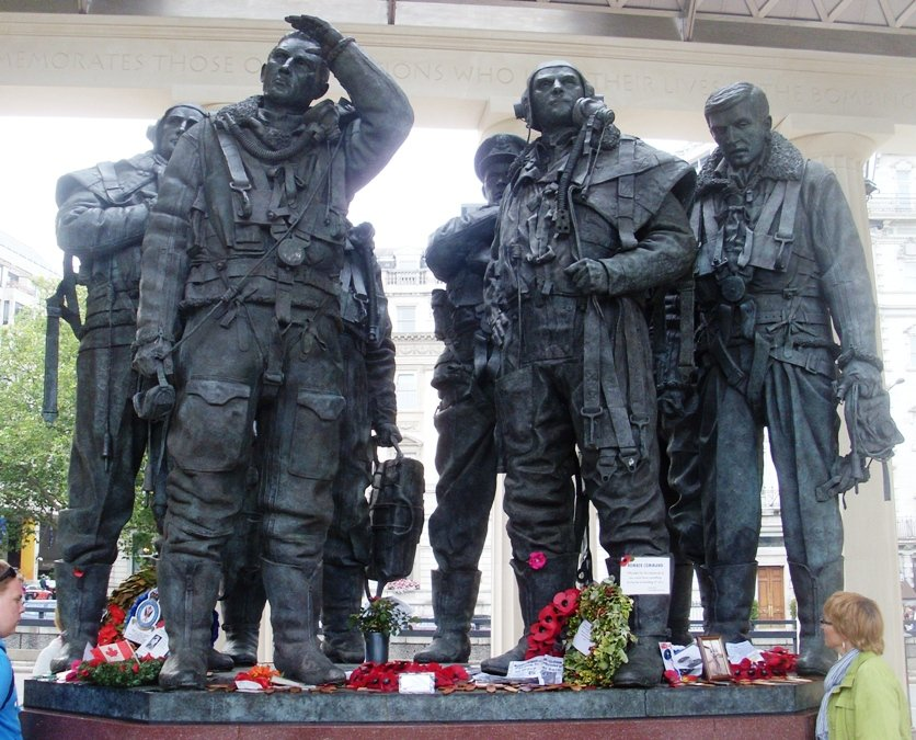 The Bomber Command memorial near Hyde Park, London