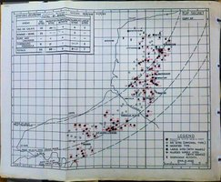 "A ""map of V1 launch sites from the National Archives (AIR 14/3723) - With thanks to Pete Foreman"