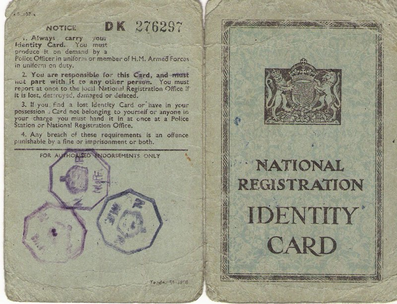 Dad's ID Card from after the War