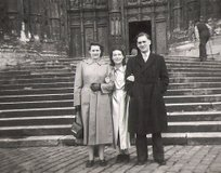 My Parents with Ginette in Beauvais in 1951