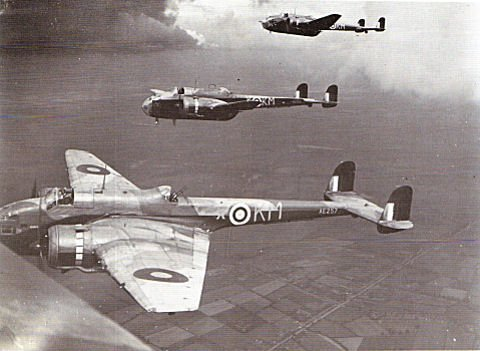 Hampdens of 44 Squadron (courtesy of the RAF Waddington Heritage Centre)