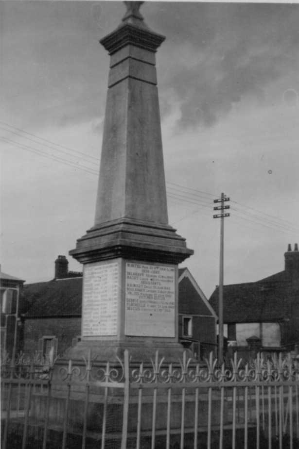 The war memorial at Haudivilliers (1951)