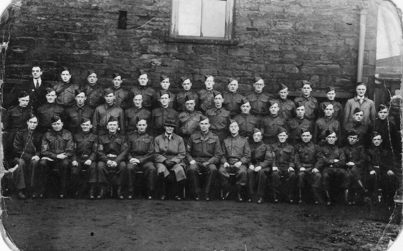 The real Dad's Army - The Home Guard (Dad back row, 3rd from the right)