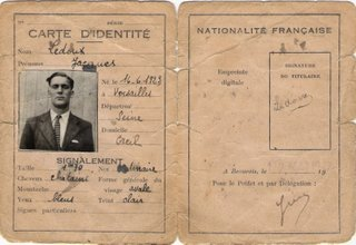 "Fake ID card for ""Jacques Ledoux"""
