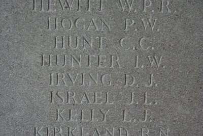 Panel 258 on the Runnymede Memorial