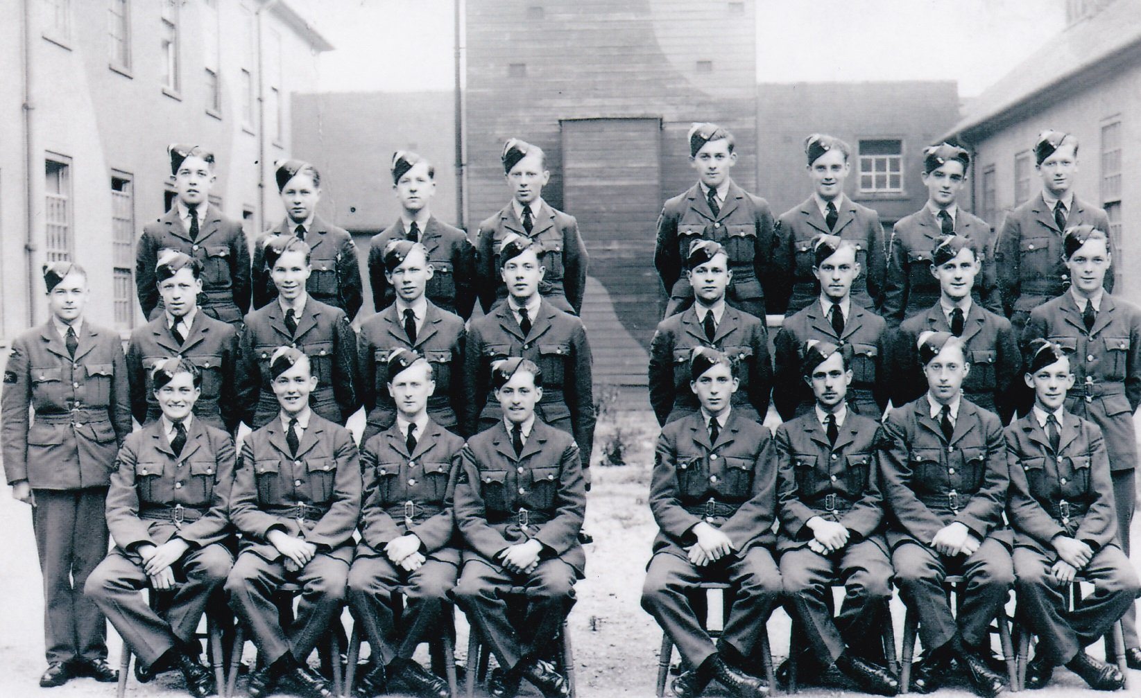 Leslie Jackson's Initial Training photo. Leslie is front row, 3rd from the left.