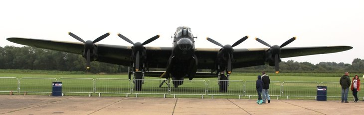 """Just Jane"" - Lancaster NX611 at the Lincolnshire Aviation Heritage Centre"