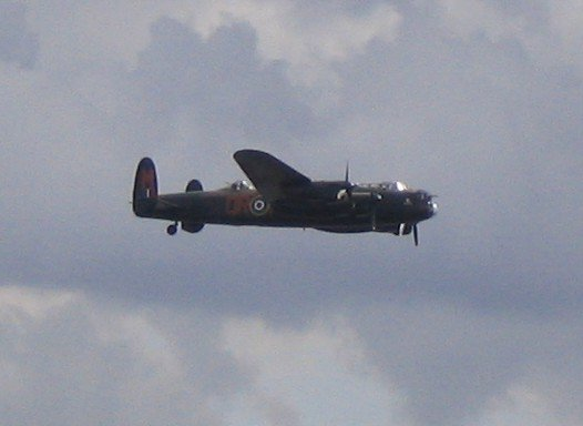 The Lancaster of the BBMF at Southend Airshow, June 2004