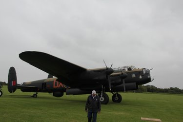 "Lancaster NX611 ""Just Jane"" at the Lincolnshire Aviation Centre"