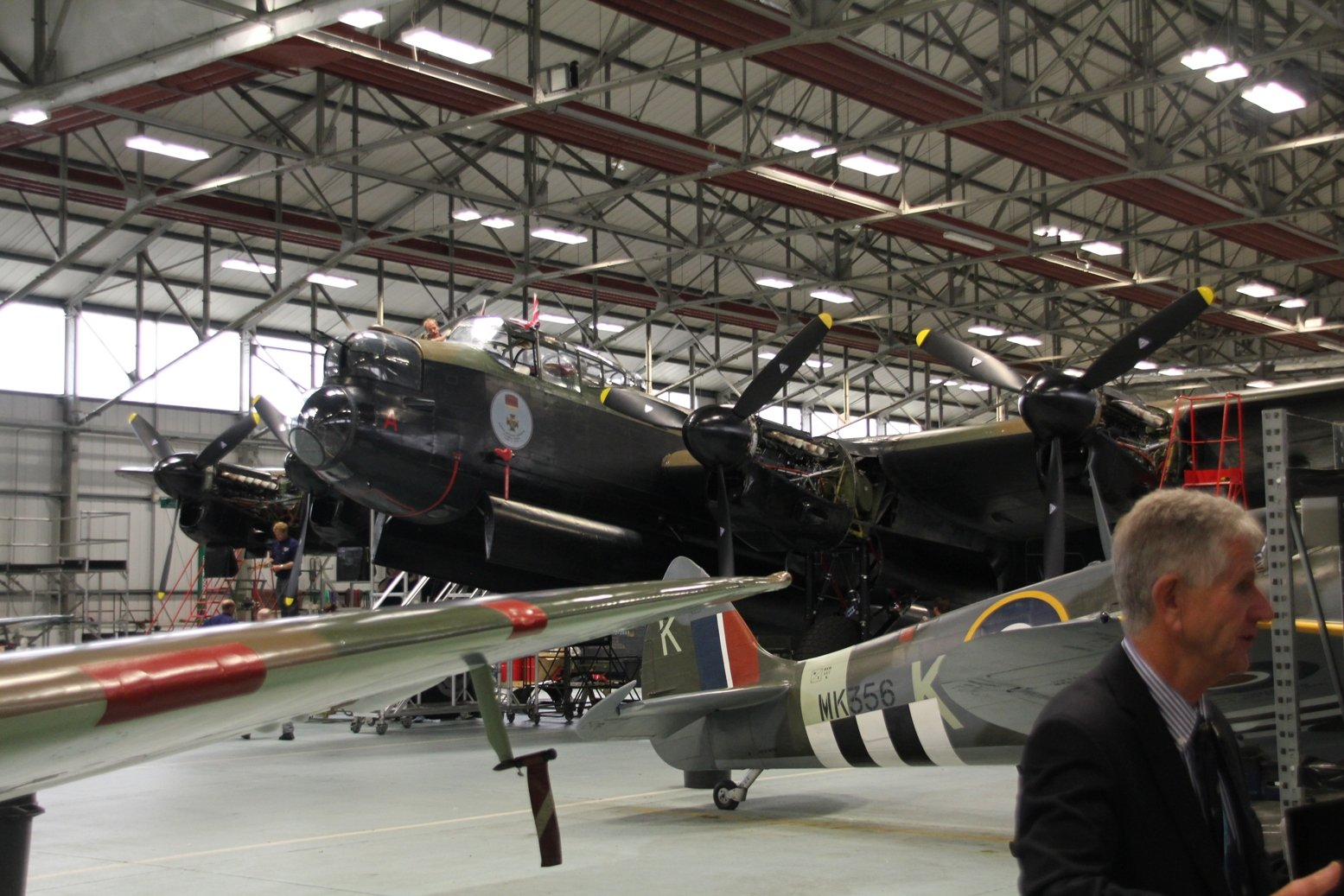 The Canadian Warplane Heritage Museum's Lancaster FM213 at RAF Coningsby