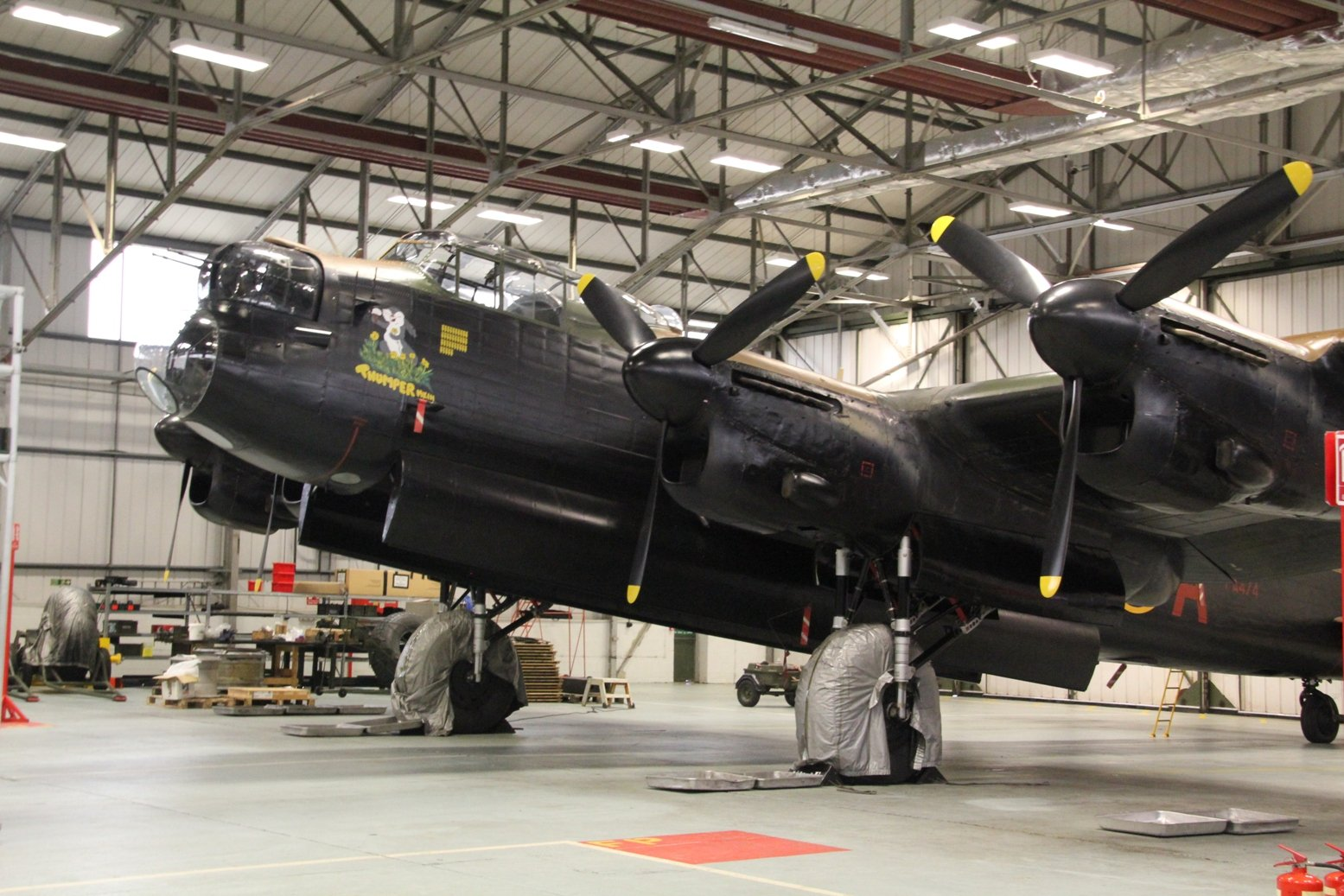 The BBMF Lancaster PA474 at RAF Coningsby