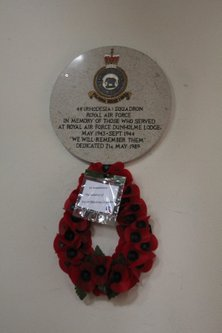 44 (Rhodesia) Squadron Memorial at St Chad's church, Dunholme