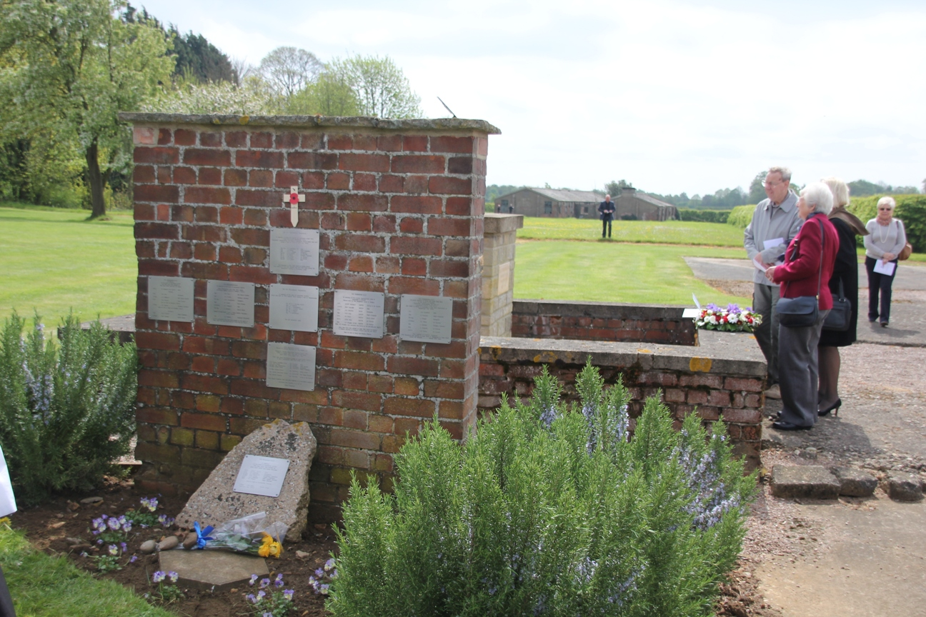 The memorial wall at Dunholme Lodge