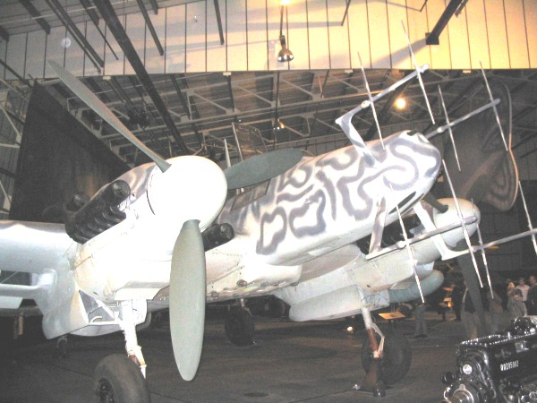 ME110 night fighter at the RAF Museum, Hendon