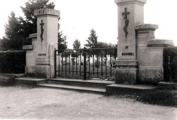 The gates of Marissel French National Cemetary in 1951