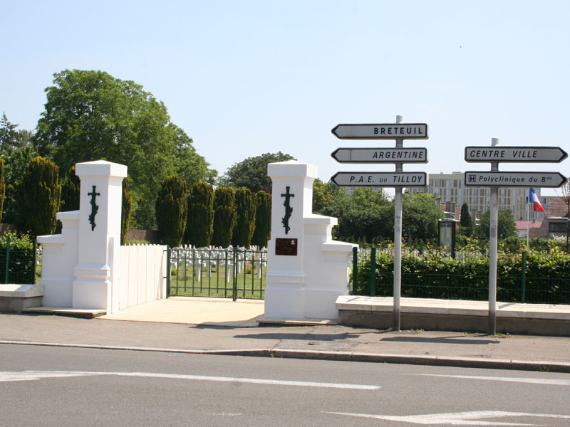 The gates of Marissel French National Cemetary in 2006