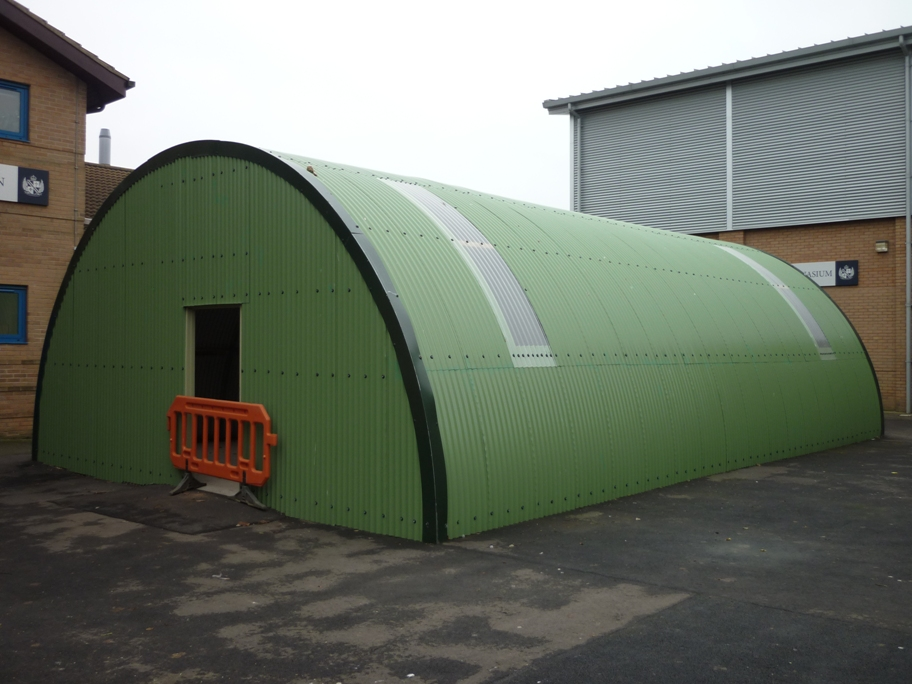 The reconstructed Nissen Hut which will be the Dunholme Lodge Heritage Centre
