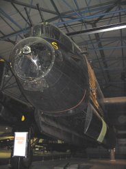 My Father's office, the Bomb Aimer's position - RAF Museum Hendon's RE868, S for Sugar