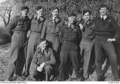 Don Irving and his crew, from the Australian War Memorial