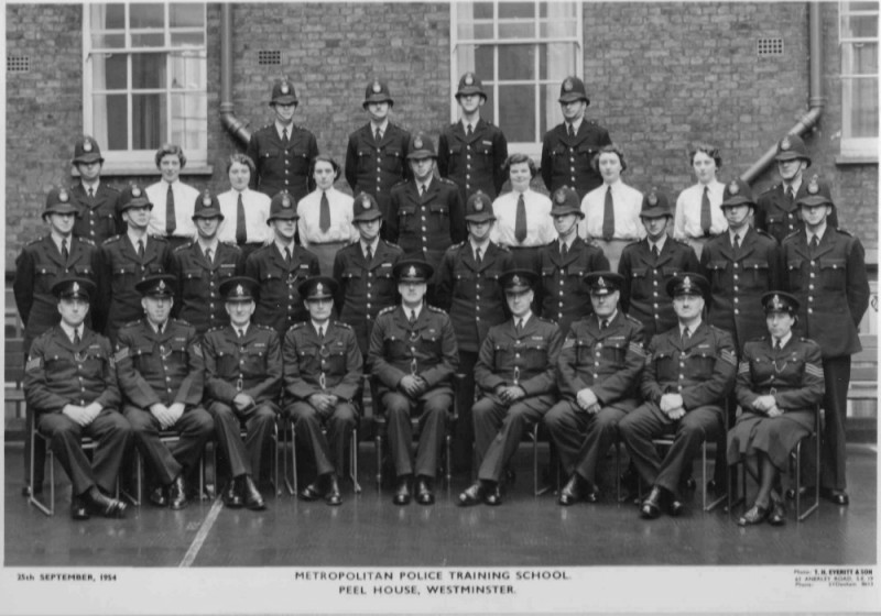 Dad's passing out picture from Police Training at Peel House 1954 - Dad 3rd row, far right