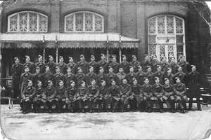 This appears to be a picture of his initial RAF training group - Dad is front row, 4 from the right