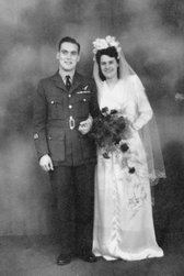 Mum & Dad on their wedding day, February 1947